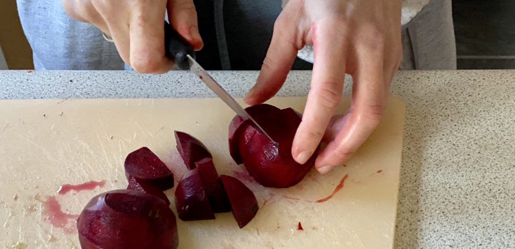 Beatriz Chopping Beetroot