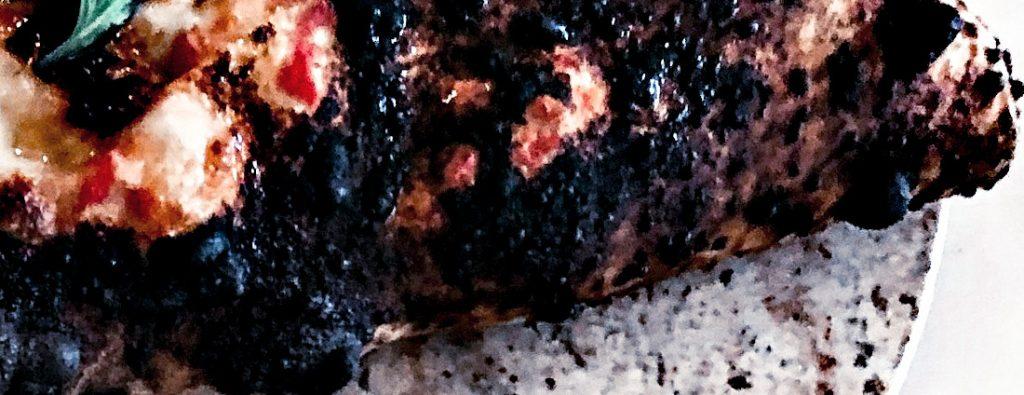 burnt piece of food