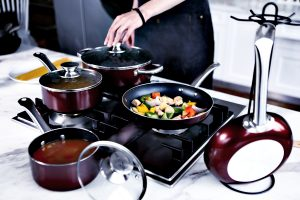 Cooking on gas stove with nonstick cookware