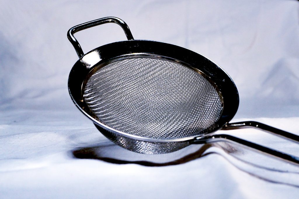 A sieve - you can use this to strain pasta