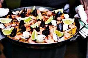 A Pan with paella in - Best Paella Pan