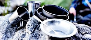 Camping Cookware on a Rock - Best Camping Cookware for Family Trips