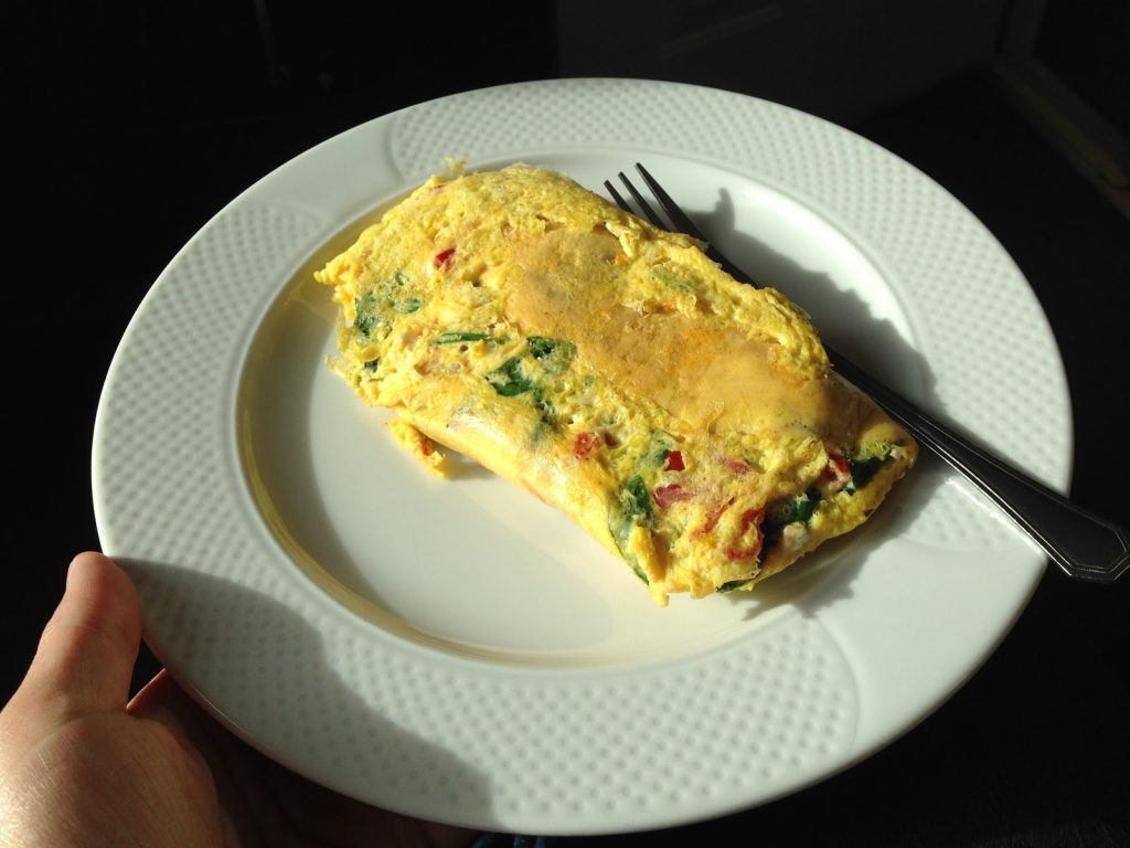 French Omelet being served