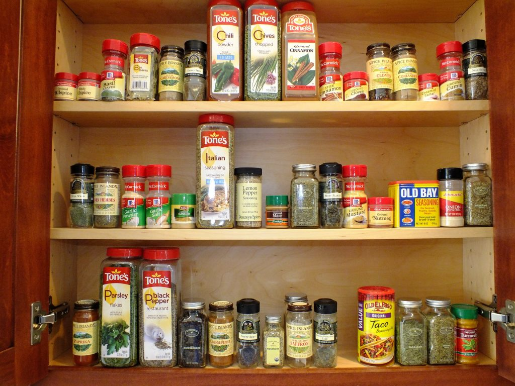 Condiments in Kitchen Pantry