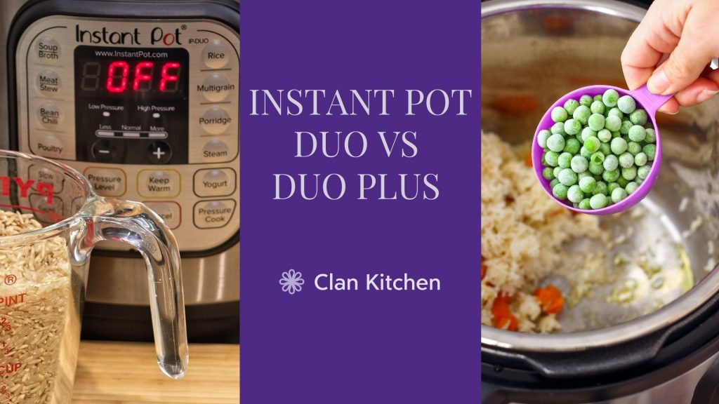 IP Duo on the left and IP Duo plus being used as a rice cooker on the right